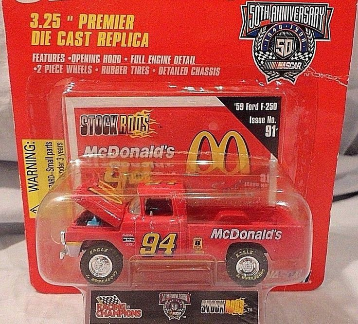 RACING CHAMPIONS 59 1959 FORD F-250 PICKUP TRUCK STOCK RODS MCDONALDS ELLIOTT #RacingChampionsMcDonalds #Ford
