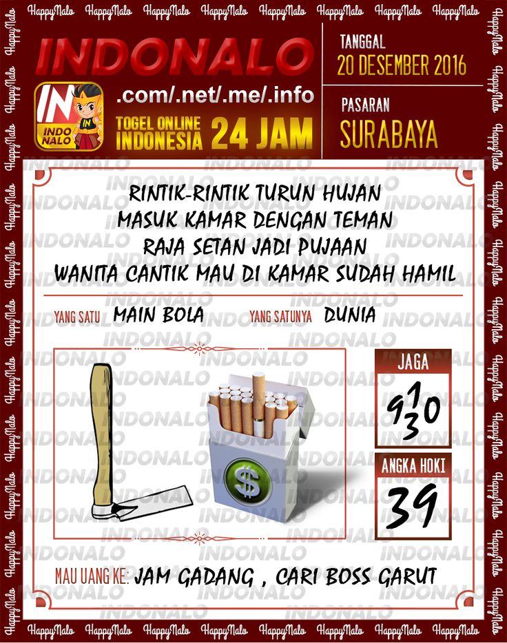 Undian Lotre 4D Togel Wap Online Live Draw 4D Indonalo Surabaya 20 Desember 2016