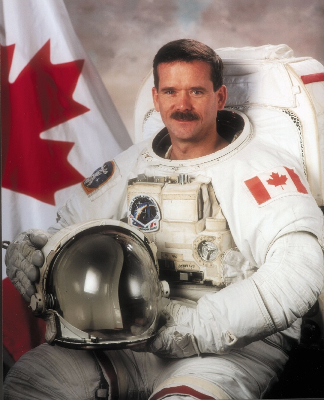 Col. Chris Hadfield first Canadian to command the ISS. Just returned home today, really going to miss all of his awesome videos from the ISS.