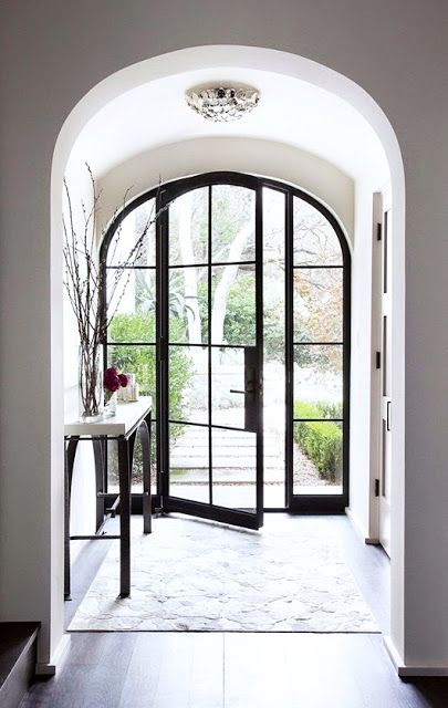 24 best Porte du0027entrée images on Pinterest Entrance doors, Front - remplacer porte par porte coulissante