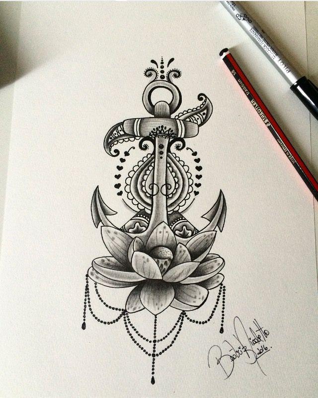 Ancora flor de lotus