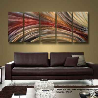 Modern Hand Painted Earth Tone Abstract Metal Wall Art Decor Cosmic Significance For Annie Pinterest And