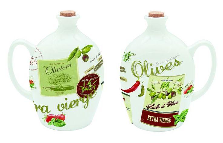 Dzbanek na oliwę lub ocet z porcelany || #Jug on #oil or #vinegar || #kitchenaccessories #herbs #spices