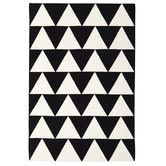 Found it at Temple & Webster - Pyramid Flat Weave Rug Black