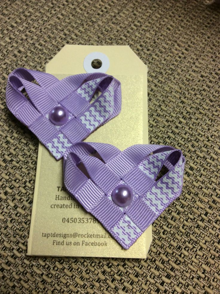 Purple Heart bows.