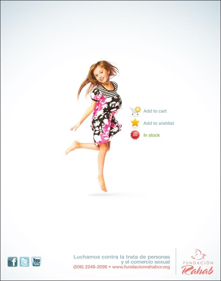 Parte de una campaña publicitaria contra la Trata de Personas con fines de Explotación Sexual de menores.