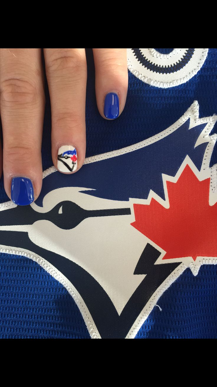 Toronto Blue Jays Nails by Gelous Beauty Bar