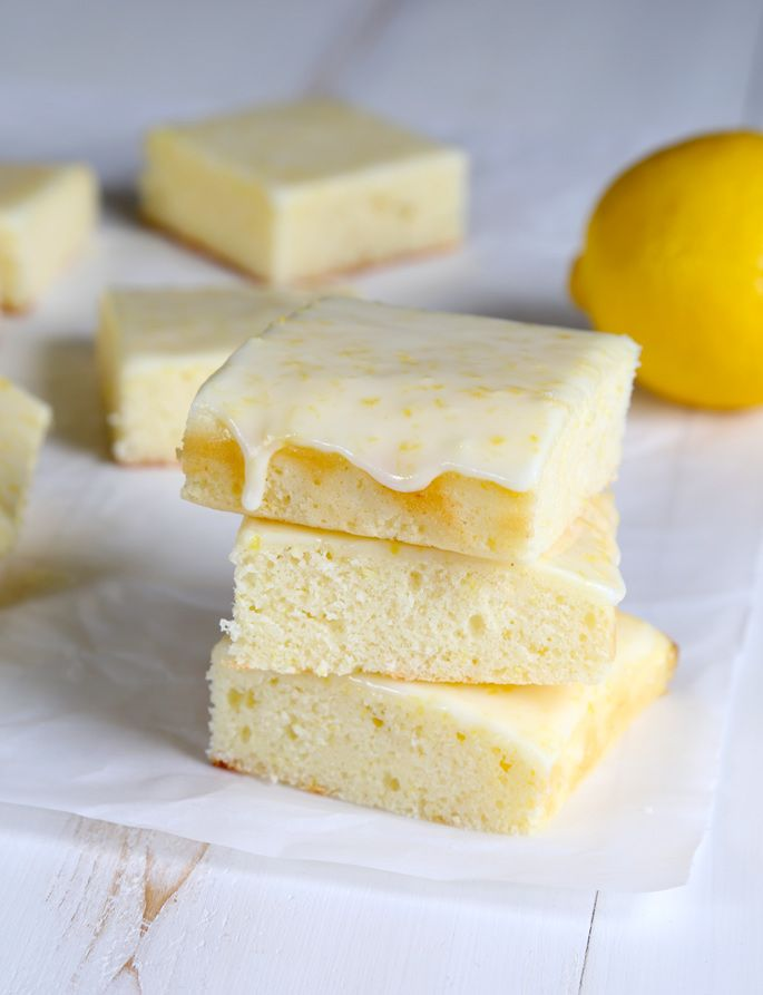 Weight Watchers-Style Gluten Free Lemon Brownies | Gluten Free on a Shoestring