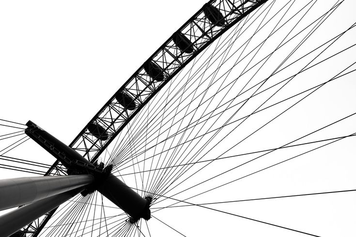 London Eye.  Playing with light and shadows.  -- Photography by SummersWildling.com