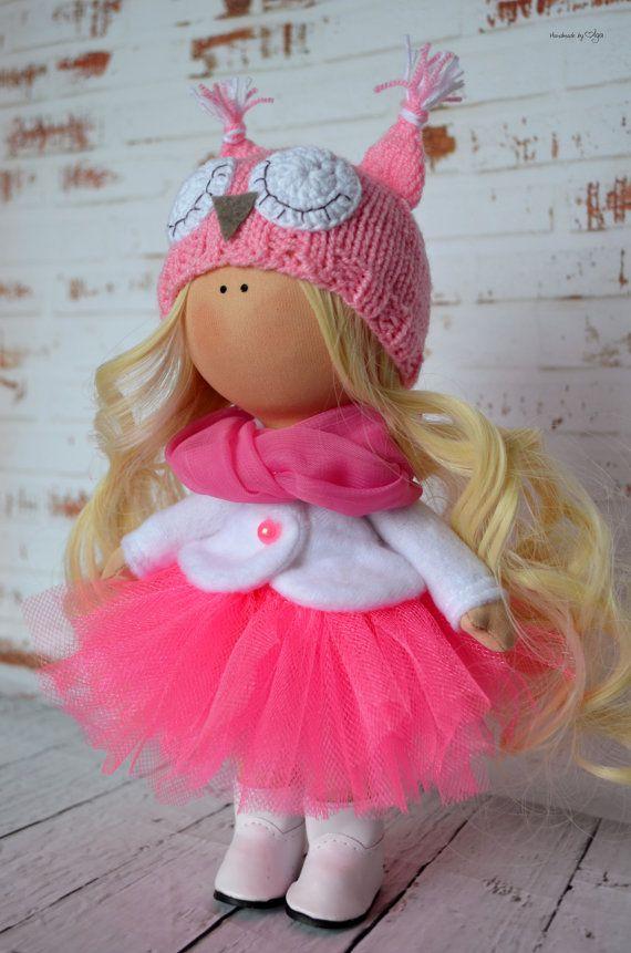 Tilda-Puppe nach Hause innen Puppe doll Art von AnnKirillartPlace