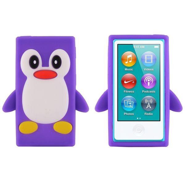 Happy Penguin (Grå) iPod Nano 7 Deksler