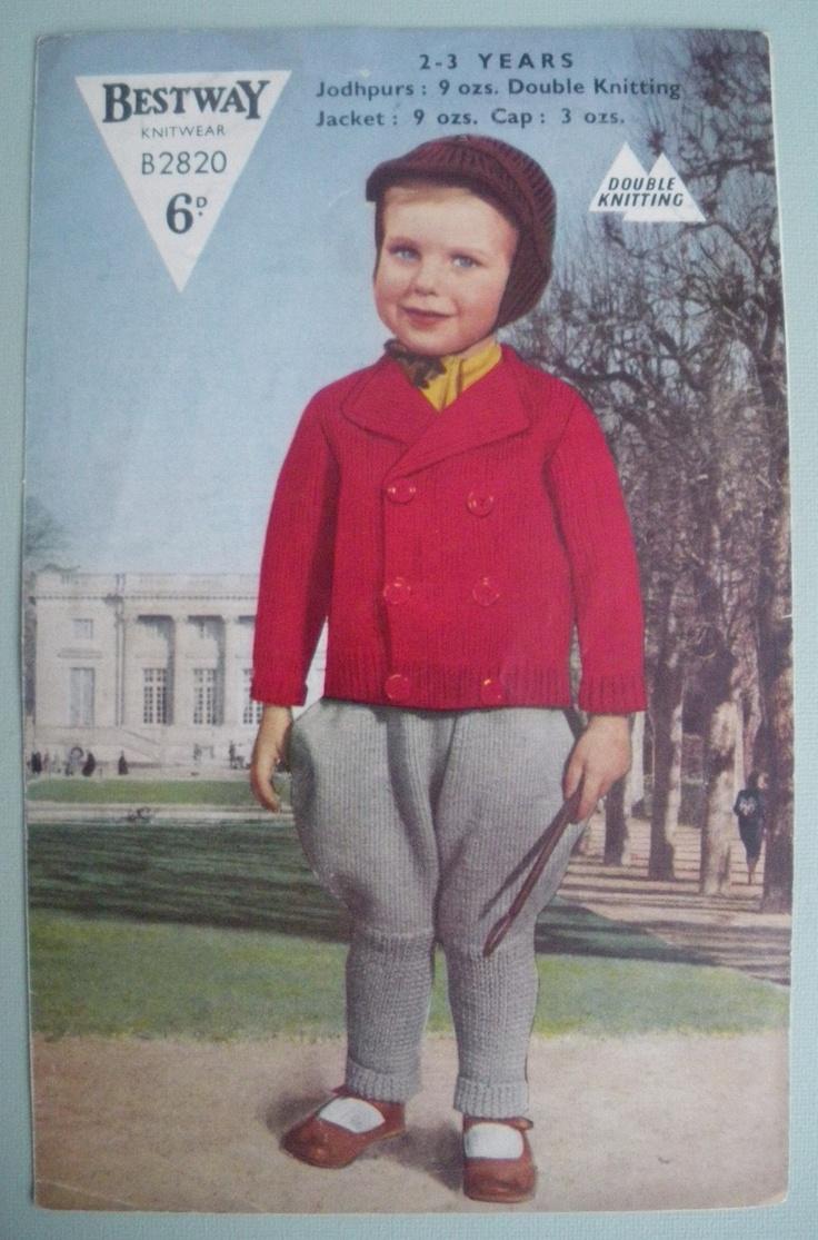 160 best Vintage knitting patterns - children\'s clothes, accessories ...