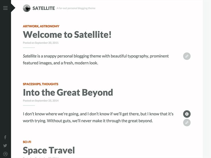 Satellite — Free WordPress Themes