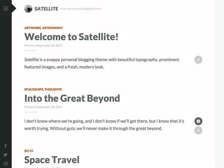 Satellite — Free WordPress Themes