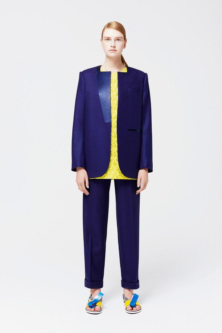 Roksanda   Resort 2015   12 Blue suit and yellow top