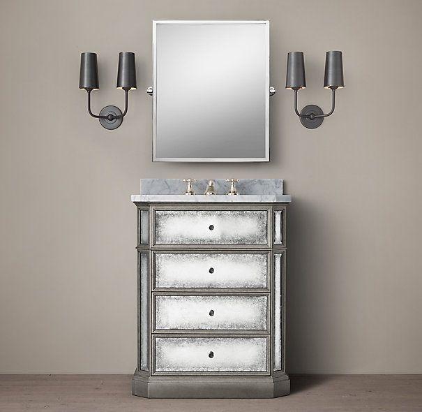 Restoration Hardware Outlet Irvine: French Mirrored Powder Vanity