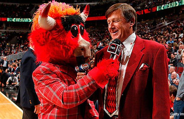 I Am...Sager Fierce Modeled by: Craig Sager Year of the Suit: 2010 Benny the Bull turns the table on a crazy suit originator.