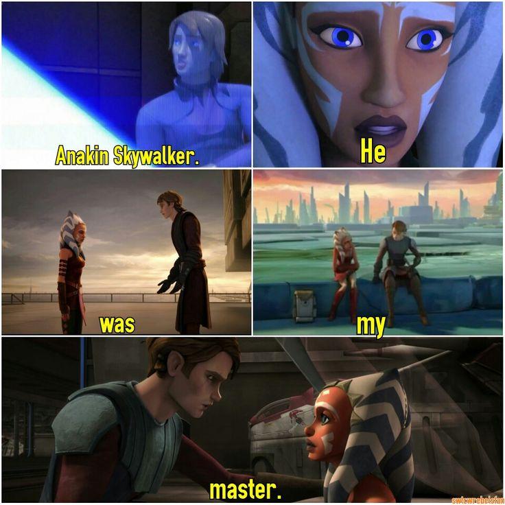 Anakin Skywalker, he was my master. With #SWTCW #flashback  #StarWars #HewasMyMaster #Anakin #MattLanter #Ahsoka #AshleyEckstein @heruniverse