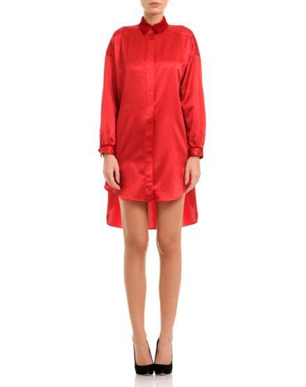 Silk Satin And Velvet Shirt-Dress #Silk #Satin #Velvet #ShirtDress