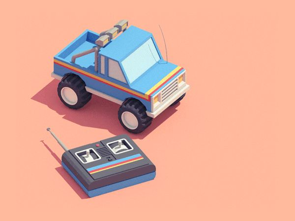 Guillaume Kurkdjian / RC 4x4 #motion #animation #gif