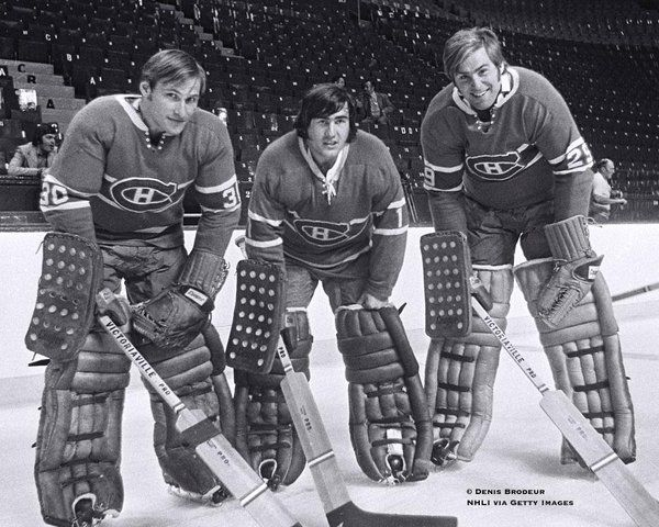 Rogie Vachon, Ken Dryden and Phil Myre