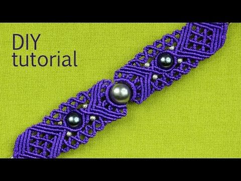 How to make a Macrame Bracelet with a big bead (eye) in the middle :) This bracelet has many macrame design elements and patterns. I hope you will find this ...