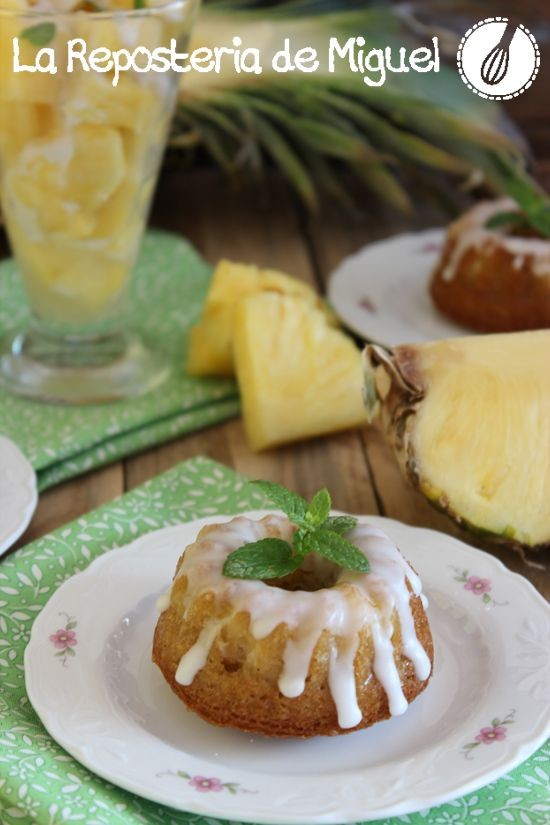 Piña Colada Mini Cakes | La Repostería de Miguel