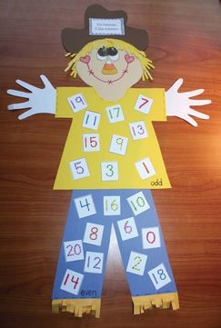 Norman the scarecrow loves numbers. FREE packet includes numbers 0-30.