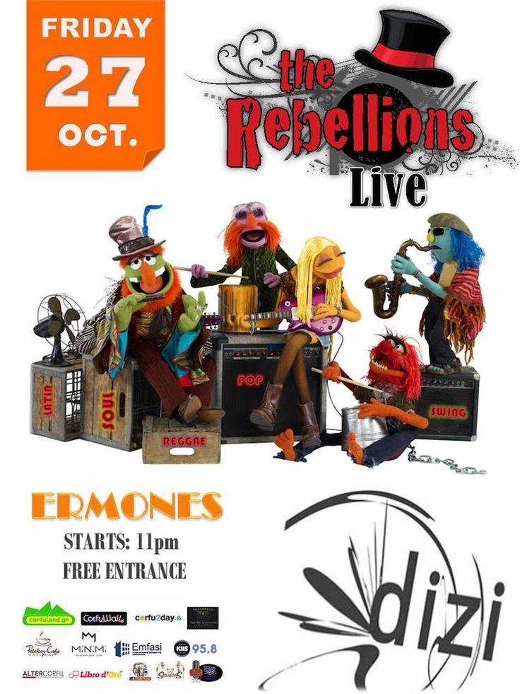 Την Παρασκευή 27 Οκτωβρίου, το Dizi Bar στους Έρμονες παρουσιάζει τους Rebellions για ένα μοναδικό live. Διαβάστε περισσότερα...