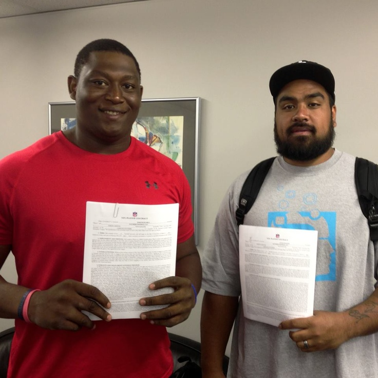 from Carolina Panthers Draft picks Star Lotulelei and Edmund Kugbila have signed on the dotted line!
