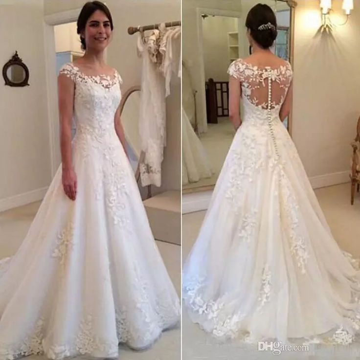 Wholesale wedding dress collections, wedding dresses lace vintage and wedding dresses online sale on DHgate.com are fashion and cheap. The well-made 2017 a line wedding dresses elegant garden western country jewel lace vintage bridal gowns appliques see through button back wedding gowns sold by faithfully is waiting for your attention.