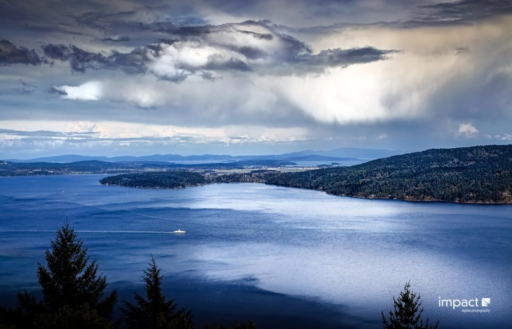 Over looking SaltSpring Island BC.