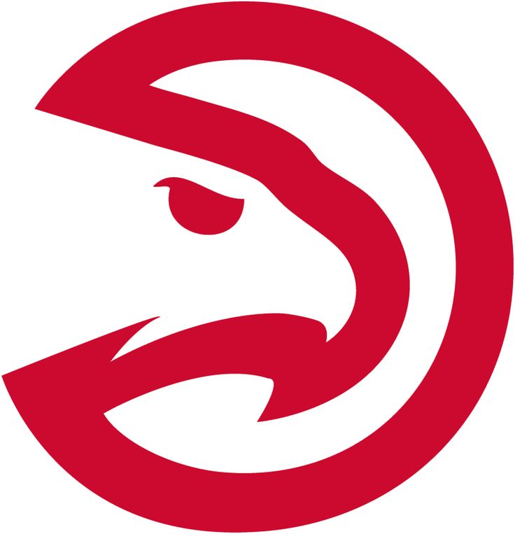Atlanta Hawks Alternate Logo (2016) - Modernized Pac-Hawk logo from primary without the circle, known officially as a Partial logo. Shape of the hawk head adjusted very slightly from the version used in 2014-15