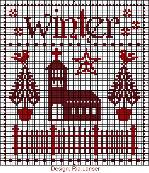 Design: Ria Lanser: Point, Stitches Seasons, Cross Stitch Designs, Cross Stitch, Cross Stitches, Cross
