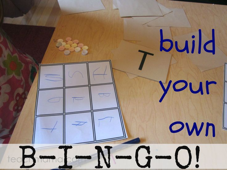 make your own bingo games using the letters of your name--match uppercase to lowercase letters --> fun and easy learning!