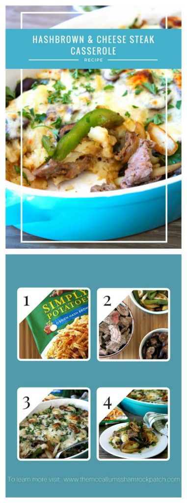 Hashbrowns and Cheese Steak Casserole #AD Hashbrowns and Cheese Steak Casserole made with Simply Potatoes® Hashbrowns couldn't get any easier on a busy work night. You are totally going to fall in love this flavorful easy to make mea…