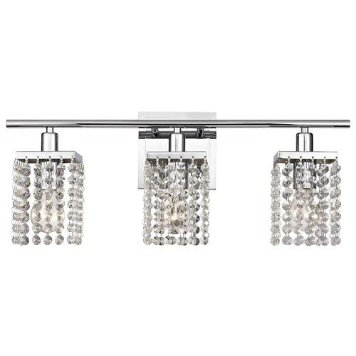 The 25 best crystal bathroom lighting ideas on pinterest 3 light crystal bathroom vanity light aloadofball Choice Image