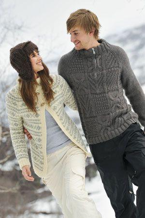 1011: Modell 10 & 10B &11 Jakke, lue og genser #strikk #knit #fjells