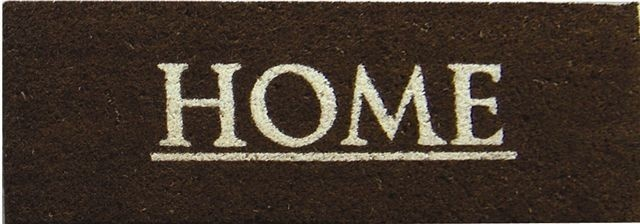 "FRENCH CHIC ""HOME"" LARGE BROWN DOOR MAT -45 X 110 CM"