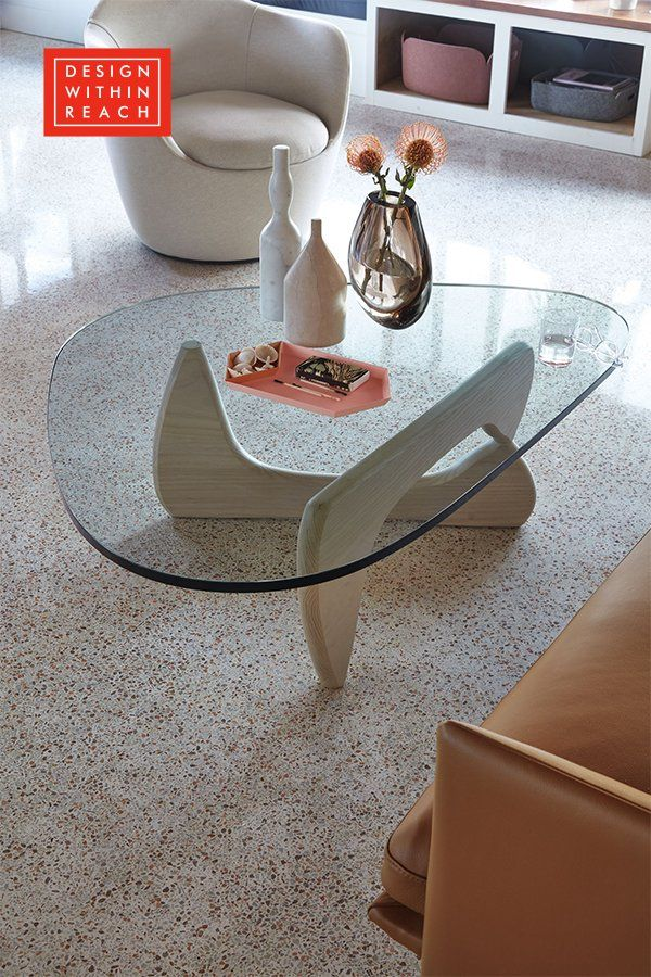 Noguchi Table Design Within Reach Coffee Glass Living Room