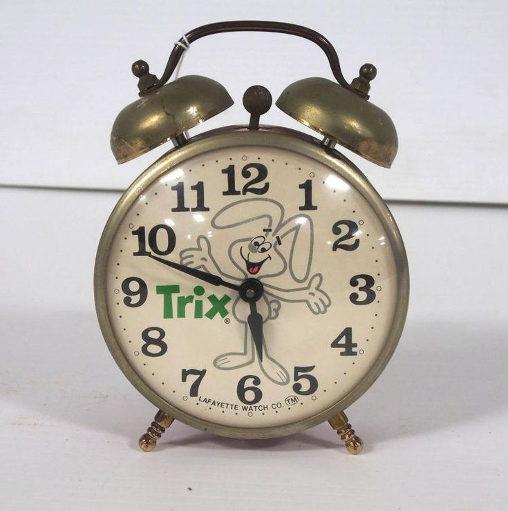 Tin Lafayette Watch Co. Wind-Up Alarm Clock Advertising Trix The Bunny...