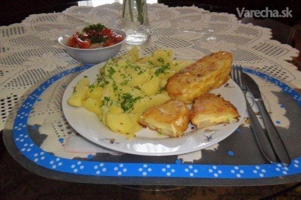 Patizón vyprážaný v cesnakovom syre (fotorecept) - Recept