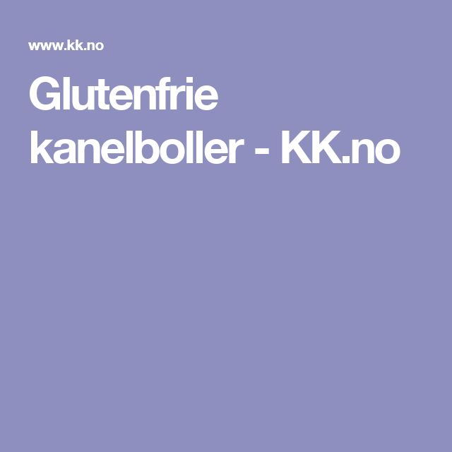 Glutenfrie kanelboller - KK.no