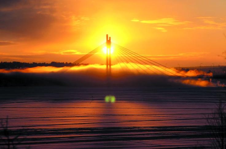 Rovaniemi midnight sun.