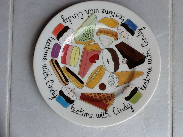 Hand Painted Cake Plates