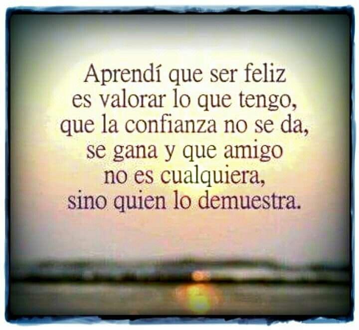 Aprendi que ser feliz....
