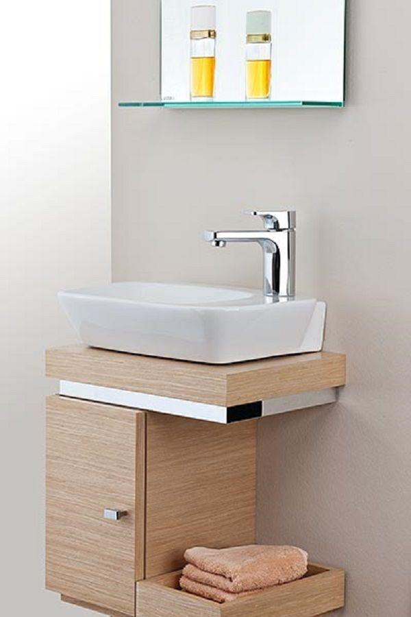 Ideen für Gäste-WC mit Holz, Edelstahl- und Glaselementen ...