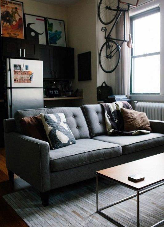 100 Bachelor Pad Living Room Ideas For Men - Masculine ... on Bedroom Ideas For Men Small Room  id=25077