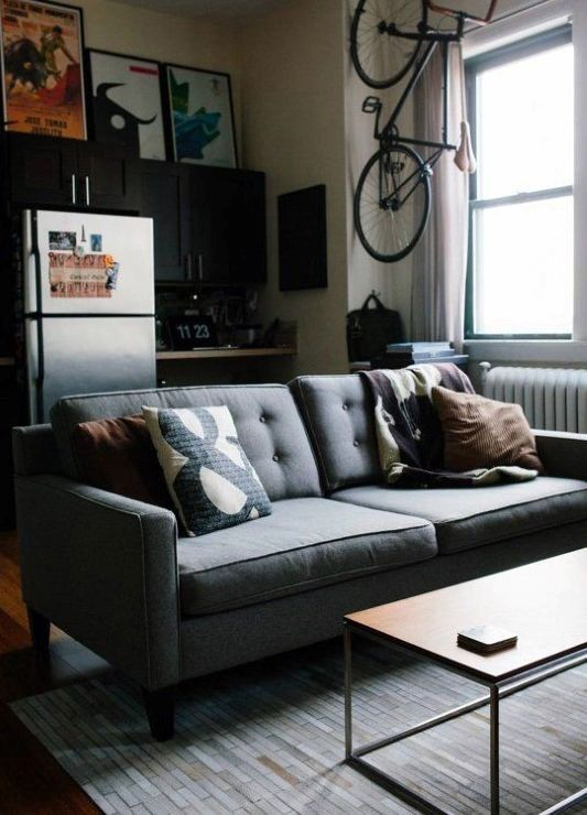 100 Bachelor Pad Living Room Ideas For Men - Masculine ... on Small Room Decor Ideas For Guys  id=40751