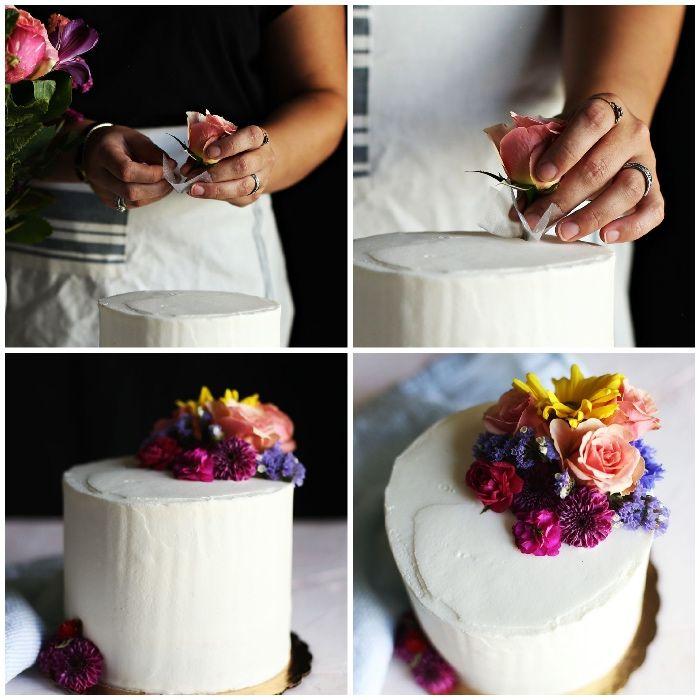 Zuckerblumen Fondant Blumen Grosse Rosen Hochzeit Torten